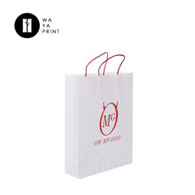 China suppliers custom apparel packaging white paper bags