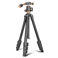New design Damping Pro Aluminum DSLR Digital Video Camera Portable Cheap Compact Travel Tripod Stand Q160 for <strong>Mobile</strong> <strong>Phone</strong>