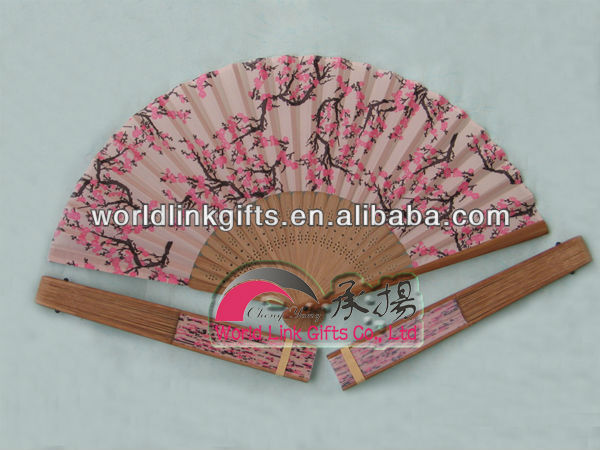 Fabric ladies hand fans