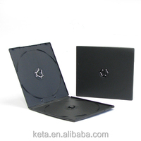 7mm Short Slim Plastic Black Double DVD PP CD Case
