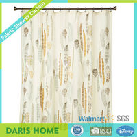 Walmart Stock Polyester Waterproof Shower Curtain