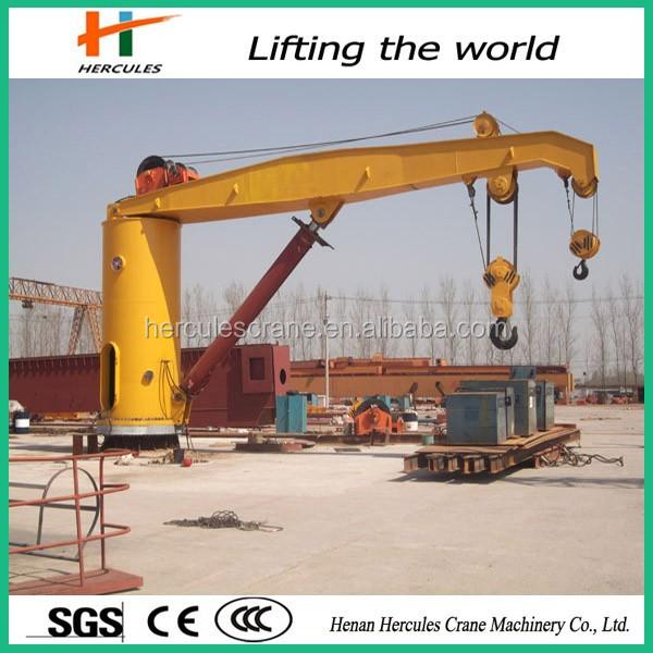 Telescopic Deck Cranes : Telescopic boom ship deck crane hydraulic marine