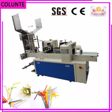 COLUNTE KAT-120 Drinking Straw Packaging Machine plastic feeder straw packing machine