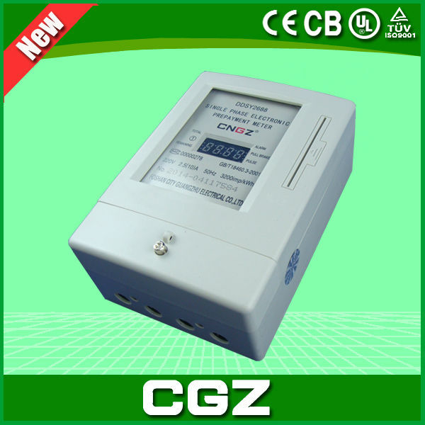 single phase electrical prepaid IC smart card meter with popular style