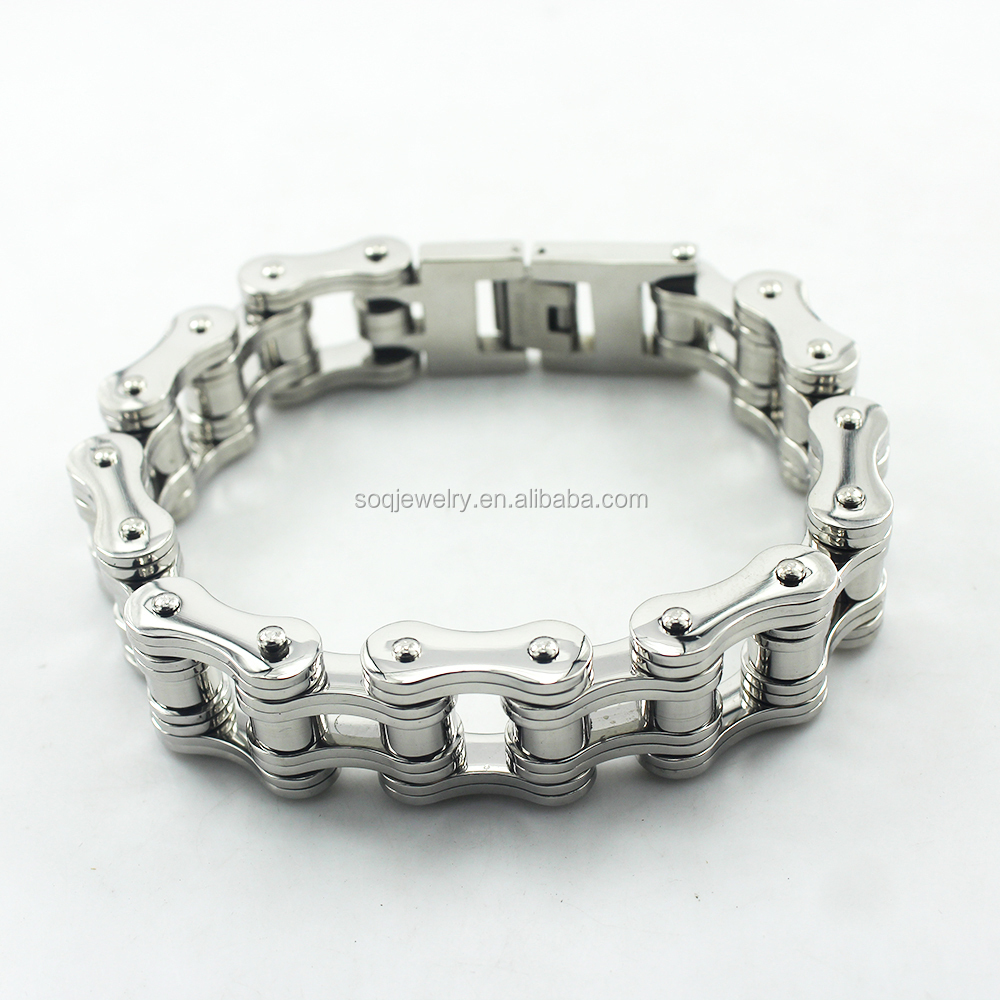 Stainless Steel Wholesale Fashion High Quality Men's Cool Biker Chain Bracelet