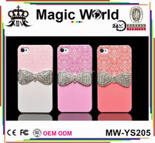 For iPhone5 5S Bowknot Bling Pink Phone Cases