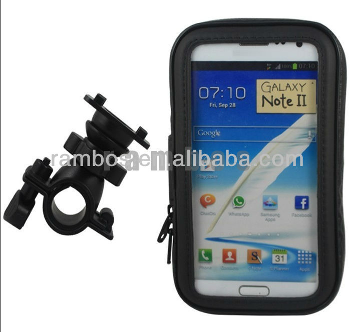 Waterproof Bike Mount Case Cover for Samsung Galaxy Note II 2 N7100 i9220