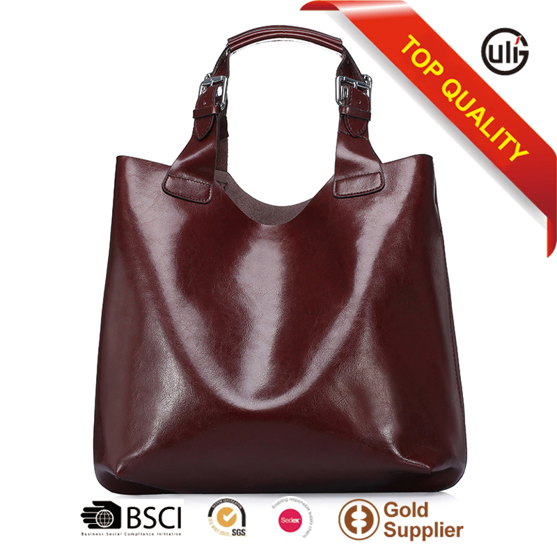 Leather goods wholesaler big volume luxury cattlehide leather lady handbag designer leather tote bags