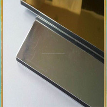 competitive price 4x8feet KYNAR 500 coating mirror finished aluminum composite panel and acp sheet acm factory with high