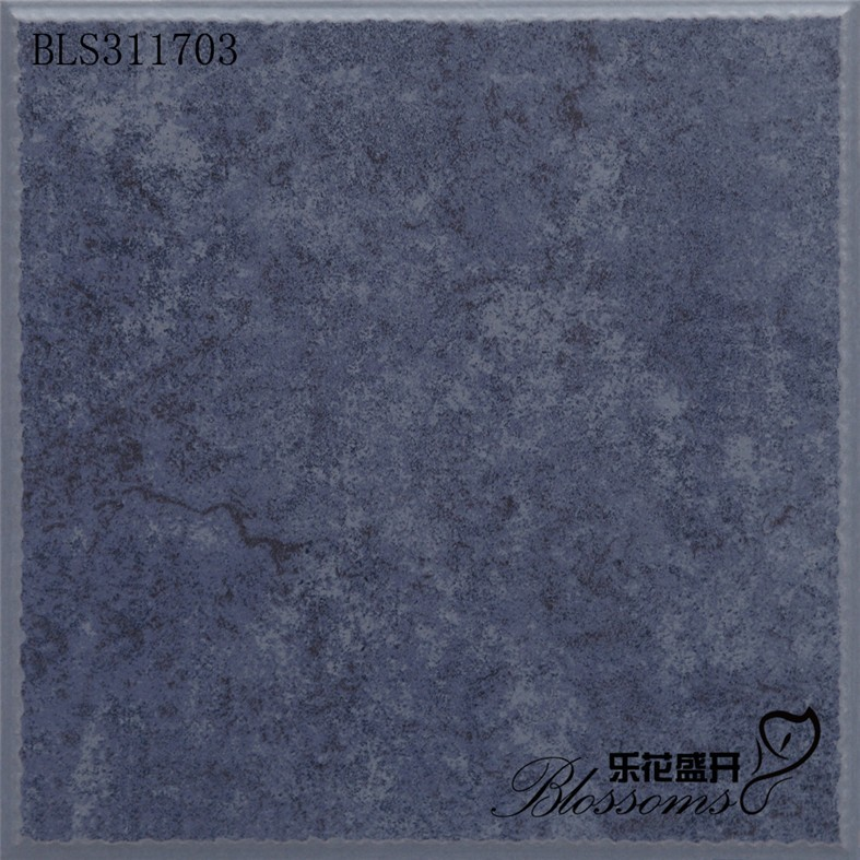 Ceramic non-slip kitchen flooring blue rust color bathroom floor tile ( 300x300mm)