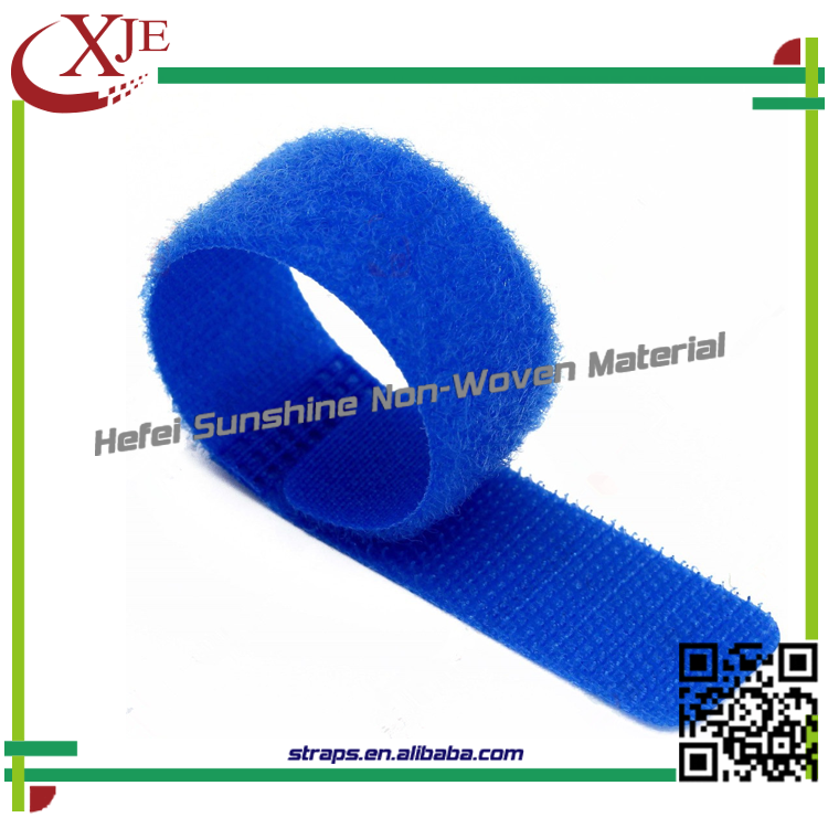 High Quality Colorful Logo Print Tie Strap Hook And Loop Tape