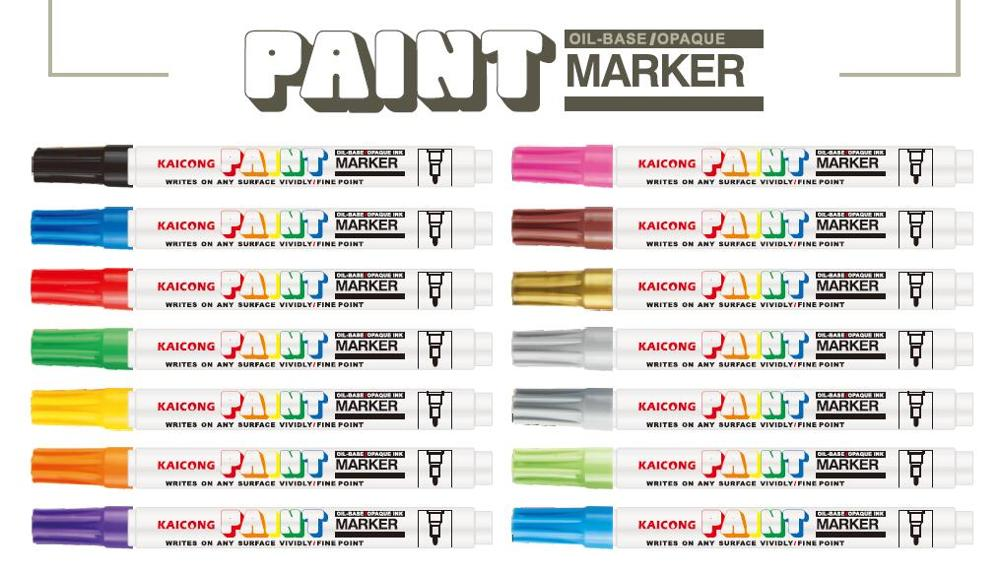 KAICONG Aluminum barrel paint marker PM-762 Japanese nib,Valve action ,metal ,medium tip Paint marker