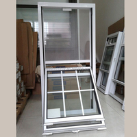 Simple design tempered glass windows grill design image double hung window for home
