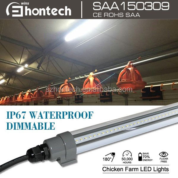 T12 1200mm 25W dimmable poultry lighting IP67 waterproof Chicken farm light led chicken light