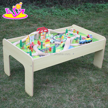 2015 Brand new wooden train toy with track, pretend play wooden train toy, wood train toy with track for baby W04C030