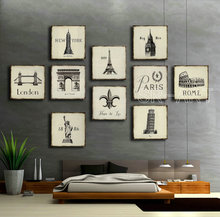European and American Style Canvas Prints Painting Building Pictures Paintings on Canvas for Living Room