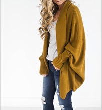 Open Front Batwing Long Sleeve Chunky Cardigan Sweaters Knit Jackets