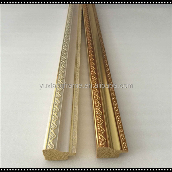 New product arts and crafts wall panel decoration of ps picture frame moulding/photo frame profile/mirror frame stick