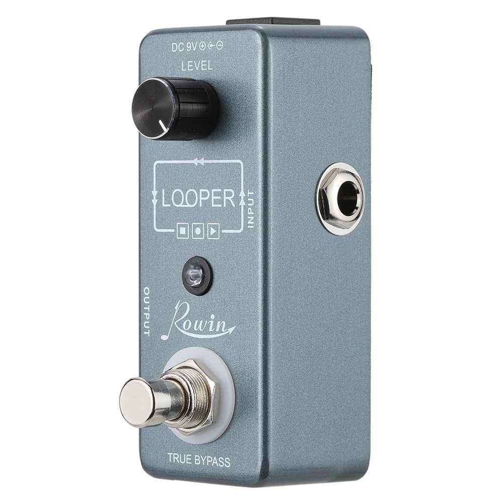 Rowin Looper Effect Pedal with Unlimited Overdubs &10 Minutes recording time