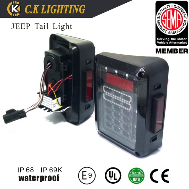 Multifunctional jeep taillight US version and Europen version jeep rear light