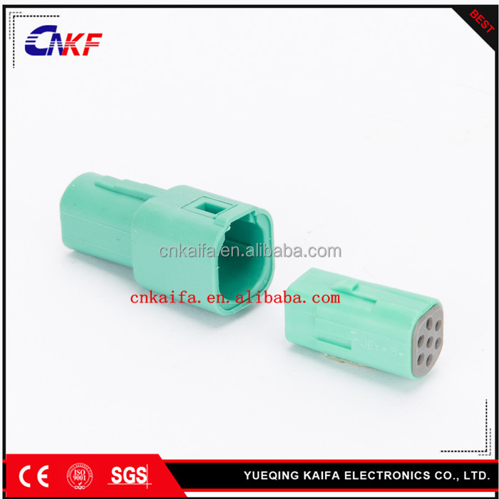 Amp Mini Mlc Plug 7 Pin Way Green Male And Female Connector 917318-4 ...