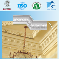 Hotel Interior Decoration Gypsum/Plaster Cornice Moldings Designs