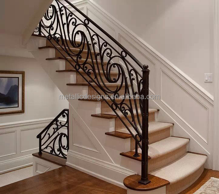 china factory price European Style Indoor aluminum stair railings