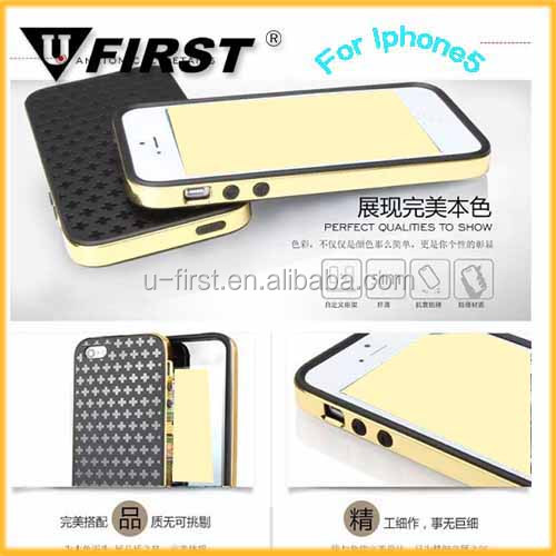 TPU+Metal Material Fancy Cell Phone Case For Iphone5/5s