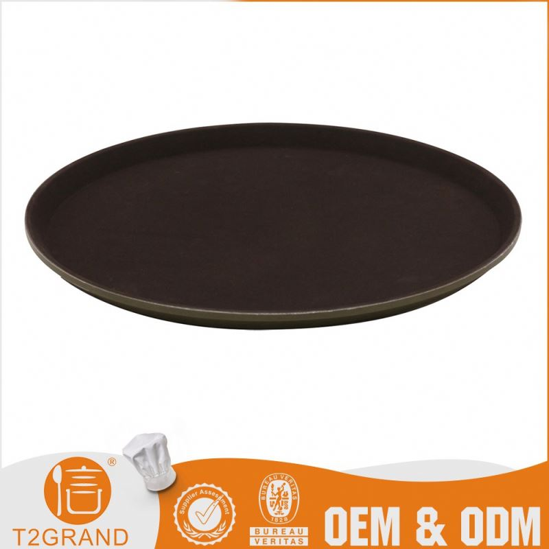 Cheap Customizable Buffet Anti-Slip Large Round Tray
