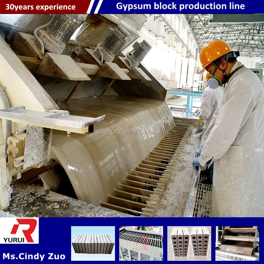 China cement Gypsum blocks making machine with high quality/light weight gypsum block production line
