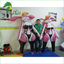 0.4mm PVC beautiful design creative Inflatable sexy girl