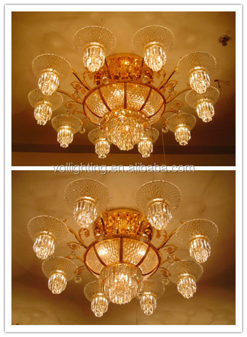 Hot sales morden style restaurant ceiling crystal chandelier combo lighting