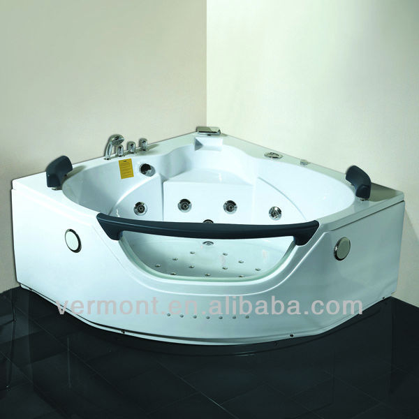 China Vermont Cheap ABS Acrylic Material Portable Mini 2 Person Double Whirlpool Bathtub