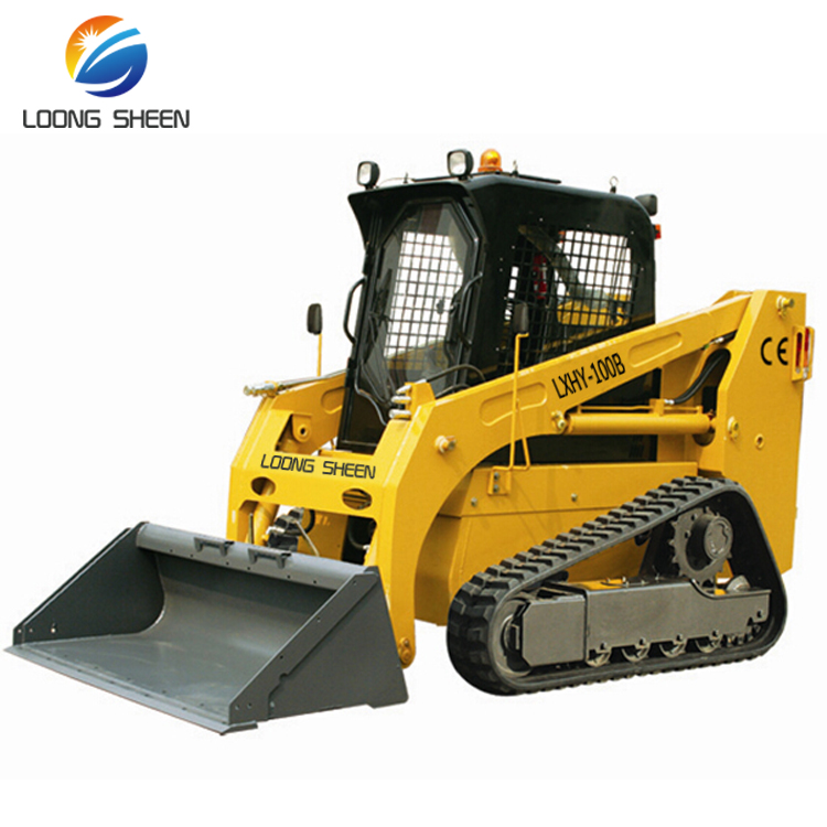 Best price of Chinese LXHY-35 track loongsheen electric mini skid steer loader for sale