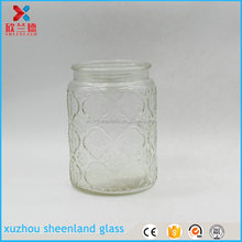 cheap large antique glass 700ml cookie jars