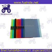 Factory price promotional pp transparent file folder with flap