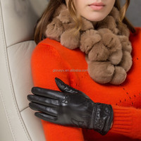 womens' soft leather gloves smartphone gloves oem gloves