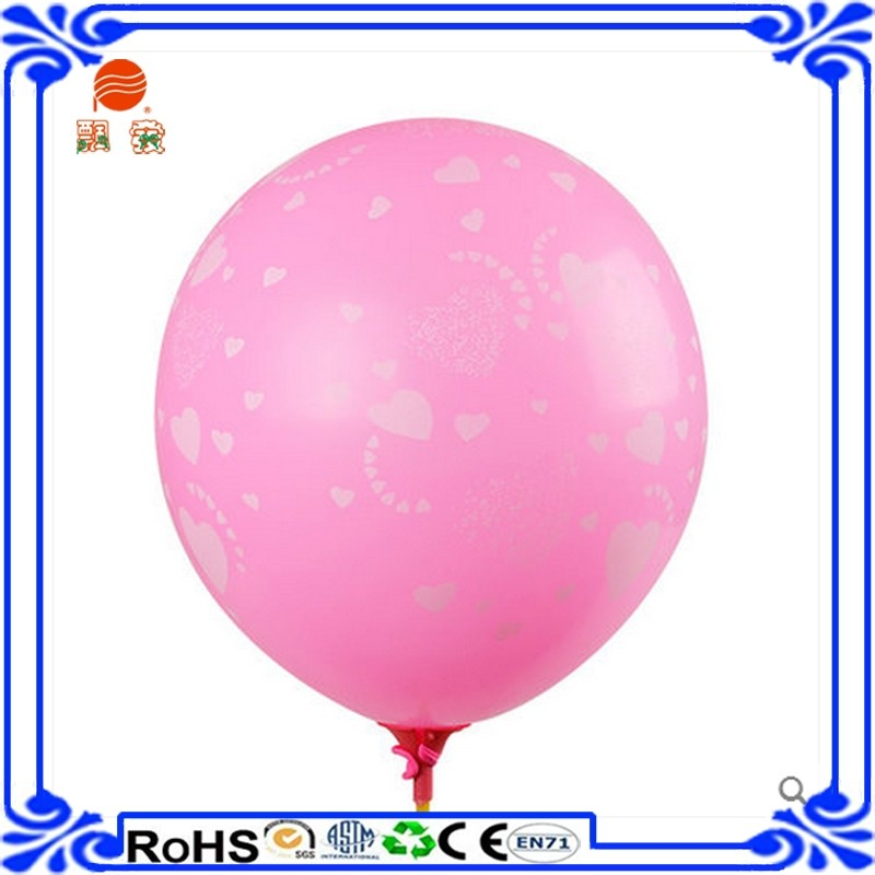 10 inches round shape printed latex balloon for Christmas orange party decoration wholesale baloon Made in China