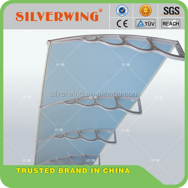 Large roof top awning Polycarbonate awning for balcony for car protection
