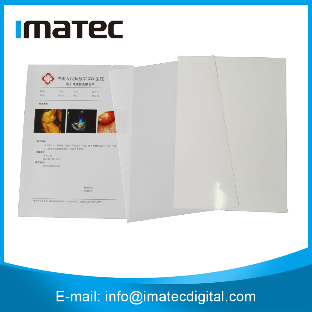 A4 White PET Inkjet Medical X-ray Film