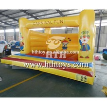 Clown themed kids inflatable bounce bed jumping bed for amusement park