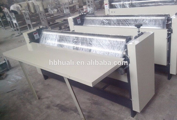 paper corrugation and pasting gum flute laminator machine