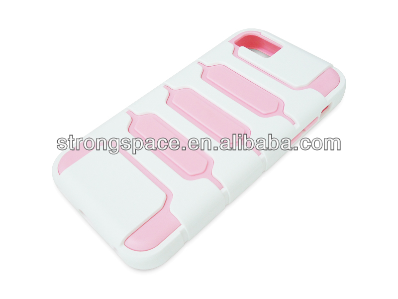 hybrid dual-layers TPU+PC case for iphone5c
