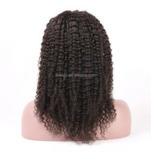 New arrival 2017 fashion style natural color afro kinky human hair wig