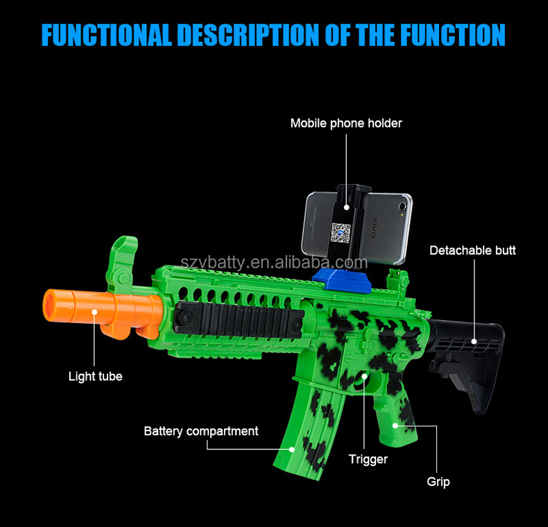 Game Phone Holder Pressure Release Toy Bluetooth Shooting game gun AR Attack Augmented Reality Gun