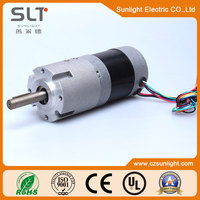 Electric PM excited micro gear brushless motor with CE approved