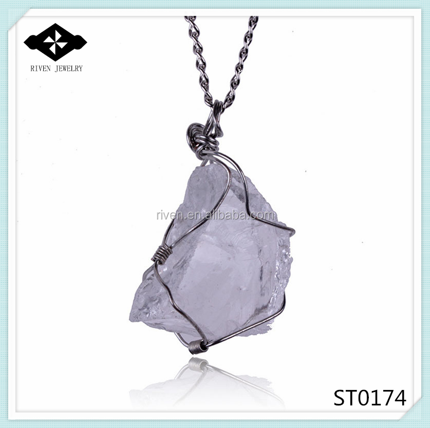 ST0174 Natural handmade heart-shaped amethyst pendant necklace Wholesale.jpg