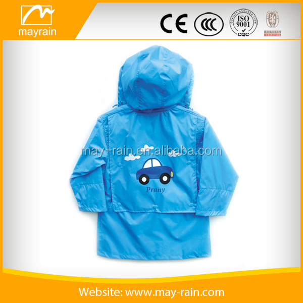Hot Sale Kids Riancoat Suit Hooded High Quality Lightweight Girls Rainwear