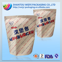 New Products For Sale Food Grade flat bottom pouch Thin Paper Bags Packaging