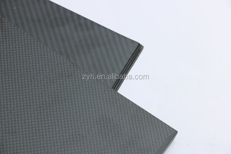 ZYH factory carbon fiber sheet plate 3k Twill glossy 500mm x 500mm x 2.5mm